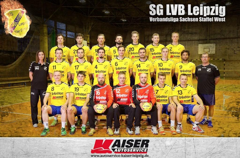 Autoservice Kaiser ist Sponsor der SG LVB Handball