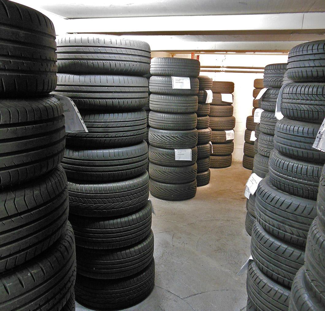 Einlagerung von Rädern und Reifen